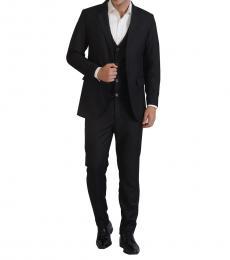 Self Stitch Classic 3 Piece Black Suit