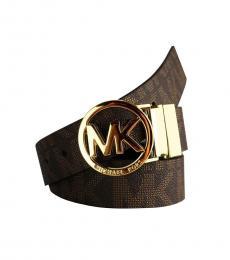 Michael Kors Brown Signature Reversible Logo Belt