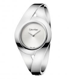 Calvin Klein Silver Sensual Silver Dial Watch