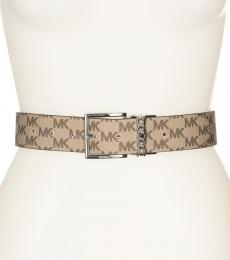Michael Kors Natural-Black Logo Reversible Belt