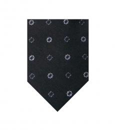 DKNY Black Newell Flower Tie