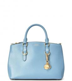 Ralph Lauren Blue Mist Solid Small Satchel