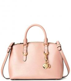 Ralph Lauren Mellow Pink Solid Small Satchel