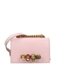Alexander McQueen Pink Jeweled Mini Shoulder Bag