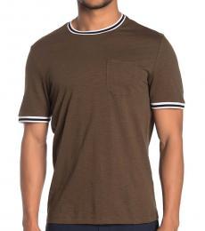 Michael Kors Olive Pique Trim T-Shirt