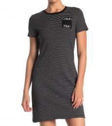 Black Logo T-Shirt Dress