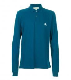 Burberry Regatta Blue Long Sleeve Classic Polo