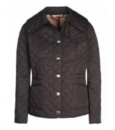 Burberry Black Slim Fit Quilted Jacket