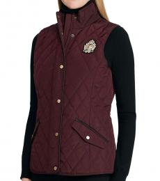 Ralph Lauren Cherry Quilted Vest Jacket