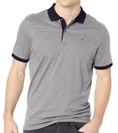 Calvin Klein Royal Blue Striped Polo