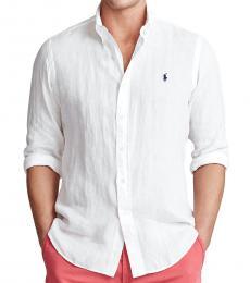 Ralph Lauren White Classic Fit Linen shirt