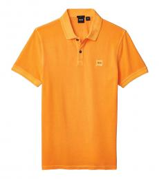 Hugo Boss Bright Orange Prime Logo Polo