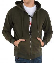 Diesel Olive Hoodie Ergey Sweatshirt
