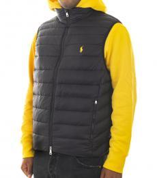Ralph Lauren Black Puffer Vest Jacket