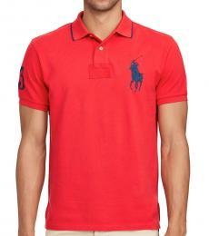 Ralph Lauren Red Custom Fit Big Pony Polo