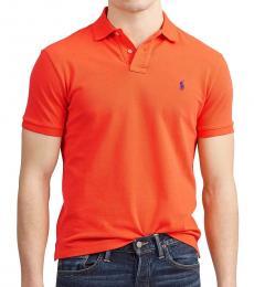 Ralph Lauren Orange Classic Fit Mesh Polo