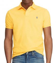 Ralph Lauren Yellow Classic Fit Mesh Polo