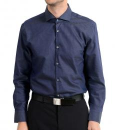 Hugo Boss Navy Blue Sharp Fit Dress Shirt