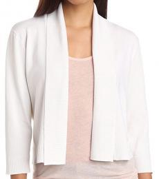Calvin Klein White Shrug Sweater