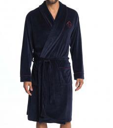 Ted Baker Navy Blue Velour Robe
