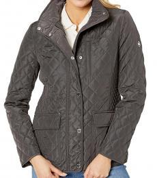 Michael Kors Gunmetal Quilted Jacket