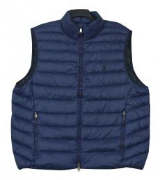 Ralph Lauren Navy Puffer Packable Down Vest