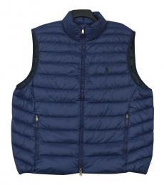 Ralph Lauren Navy Puffer Packable Down Vest