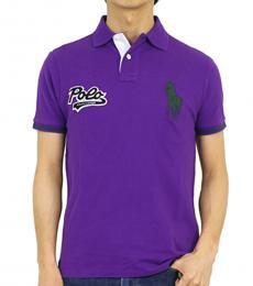 Ralph Lauren Purple Custom Fit Polo