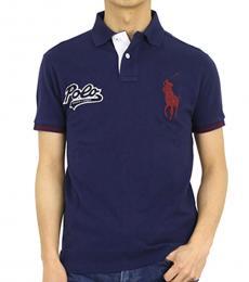 Ralph Lauren Dark Blue Custom Fit Polo