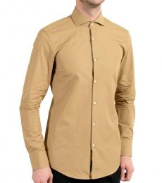 Hugo Boss Beige Slim Fit Dress Shirt