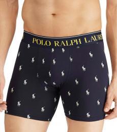 Ralph Lauren Navy Allover Logo Underwear