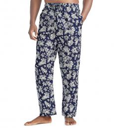 Ralph Lauren Navy Tropical Pajama Pants