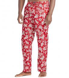 Ralph Lauren Red Tropical Pajama Pants