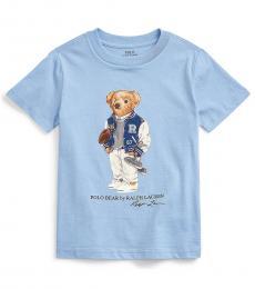 Ralph Lauren Little Boys Blue Football Bear T-Shirt