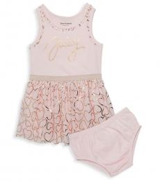 Juicy Couture Little Girls Pink Hearts Dress