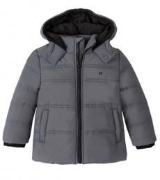 Calvin Klein Boys Grey Puffer Jacket