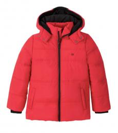 Calvin Klein Boys Red Puffer Jacket