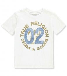 True Religion Little Boys White Logo T-Shirt