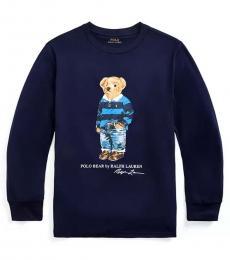 Ralph Lauren Boys Cruise Navy Rugby Bear T-Shirt