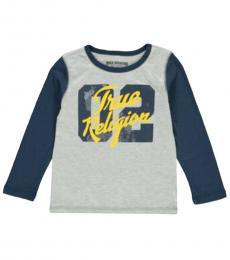 True Religion Little Boys Heather Grey Graphic T-Shirt