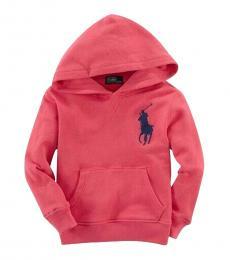 Ralph Lauren Boys Crosby Red Big Pony Hoodie
