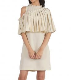Asymmetric Box Pleat Dress