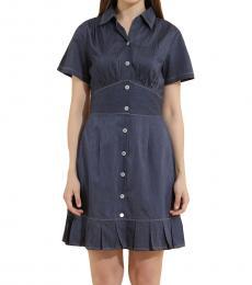 Blue Corset Skater Dress