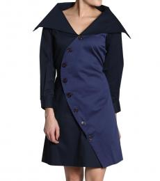 Self Stitch Navy Trench Dress