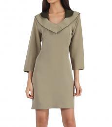 Modern Collar Neckline Dress