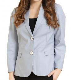 Self Stitch Powder Blue Two Button Blazer