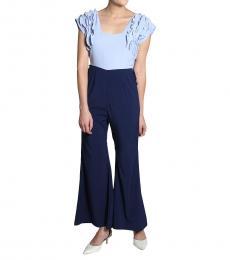 Self Stitch Blue Frill Jumpsuit