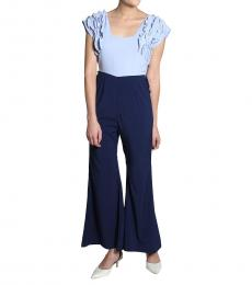 Self Stitch Blue Frill Jumpsuit