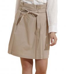 Beige Paper Bag Skirt
