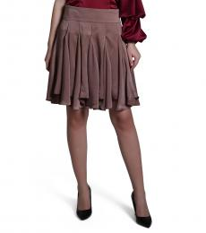 Self Stitch Brown Godet Skirt